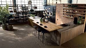 cuisine industrielle table de cuisine moderne en verre 5 cuisine industrielle bois