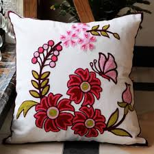 Sofa Pillow Cases Aliexpress Com Buy Flowers Cotton Handmade Embroid Sofa Cushion