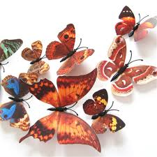 12 pcs magnet 3d butterfly wall stickers home decals