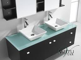 Glass Bathroom Sink Vanity 61