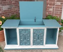 Vintage Blue Cabinets Hutches Cabinets U0026 Buffets Painted Glazed U0026 Distressed