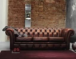 Chesterfield Sofa Vintage Oldschool Chesterfield Sofa Vintage Leather Industrial Style