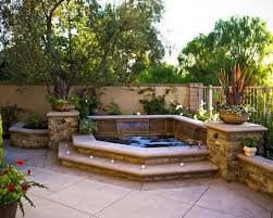 Photo Of Small Backyard Hot Tub Ideas  Awesome Garden Hot Tub - Backyard spa designs