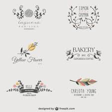 design free logo download floral business logos vector free download