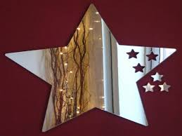 western star home decor mirrors for the wall mirrored barn stars star mirror wall decor