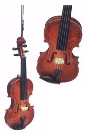 violin ornament classical wooden detailed