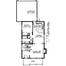 Narrow Lot House Plans With Rear Garage Innovational Ideas 12 Narrow Lot House Plans Level 1 Rear Garage