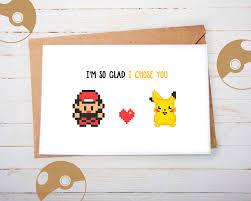 cute pokemon greeting card pikachu ash valentines card anniversary