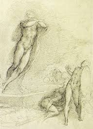 resurrection of christ by michelangelo drawing