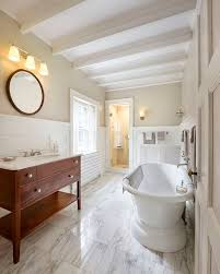 relaxing bathroom decorating ideas exquisite classy bathroom with beams and soothing bathroom paint