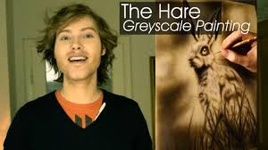 Oil Painting Meme - the hare greyscale oil painting by tiago azevedo youtube