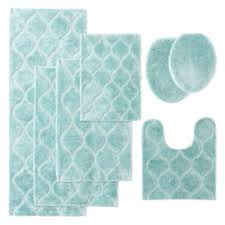 Aqua Bathroom Rugs Jcpenney Home Bri Bath Rug Collection