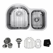 30 Kitchen Sinks by Kraus Stainless Steel 30 Inch Undermount 16 Gauge Double Bowl