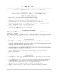 Resume Samples Executive Level by Executive Level Administrative Assistant Resume Example Vinodomia