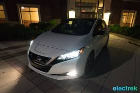 dark gray nissan 115 dark night front new nissan leaf 2018 national drive electric