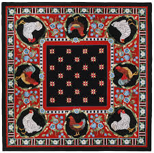Claire Murray Washable Rugs by Chanticleer Rooster 8x8 Hand Hooked Rug Claire Murray