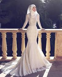 wedding dress muslimah muslim wedding dresses mermaid trumpet vintage bridal gowns 2016