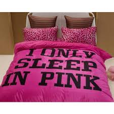 i only sleep in pink duvet cover