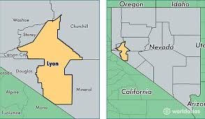 nevada counties map lyon county nevada map of lyon county nv where is lyon county