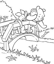 pooh u0026 piglet u0027s coloring pages