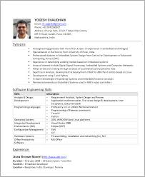 Resume Sample For Experienced Software Engineer by 54 Engineering Resume Templates Free U0026 Premium Templates