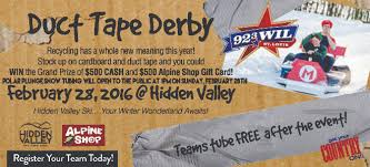 duct tape derby hidden valley ski ride tube