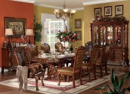 9 dining room set dining table set formal style pedestal 9pcs pedestal