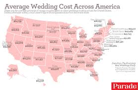 how much is a wedding the average cost of a wedding in each region of the u s