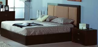 Oak Veneer Bedroom Furniture by W Oak Veneer Modern Bed W Fabric Or Leatherette Headboard