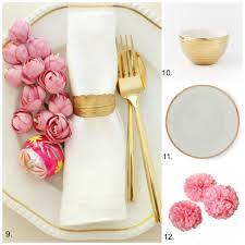 Pink And Gold Table Setting by Beautiful And Easy Christmas Table Inspiration