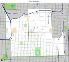 12th ward chicago map map of building projects properties and businesses in back of