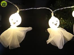 1 5m 10led ghost string lights halloween party decor halloween
