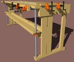 new fangled workbench using pipe clamps pdf plan at http