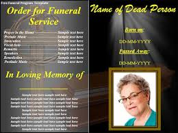 funeral programs exles sle funeral program template 30 free documents in