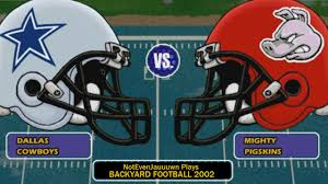 game 3 of backyard football 2002 dallas cowboys vs mighty
