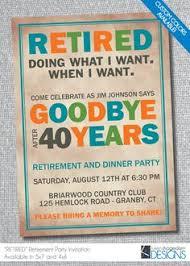 retirement flyer template free printable retirement invitations