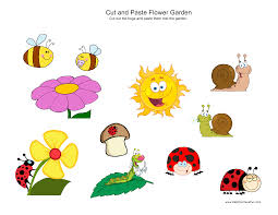 cut and paste bug garden cut and paste worksheets activities