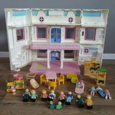 Fisher Price Doll House Furniture Vintage Fisher Price Loving Family Dream Doll House With Dolls