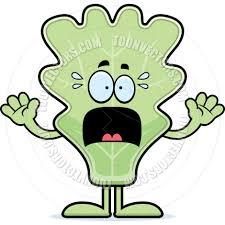 scared cartoon lettuce leaf by cory thoman toon vectors eps 19407