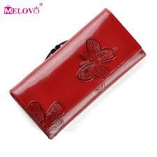 leather women s wallet pattern melovo luxury designer fashion beautiful butterfly pattern women s