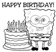 spongebob print coloring pages birthday party coloring