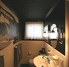 bathroom ceiling ideas decor small bathroom decoration with faux tin ceiling tiles plus