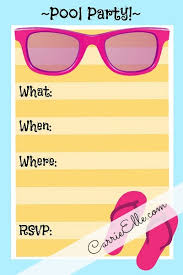 perfect invites for pool party free printable pool party invite