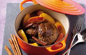 comment cuisiner jumeau boeuf bœuf braisé au cidre cannelle et pommes caramélisées recettes de