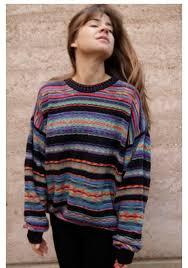 sweater school oversized sweater stripes 90s style