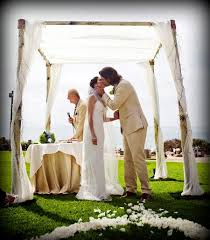 wedding arches los angeles aspen birch bamboo wedding canopy chuppah arch rentals miami south