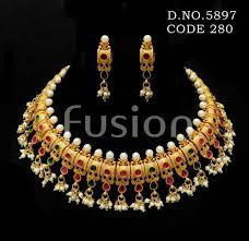bridal pearl necklace sets images Wedding pearl necklace set at rs 1400 set mumbai id 4027923962 jpg