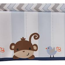 Monkey Rug For Nursery Lambs U0026 Ivy Bedtime Originals Mod Monkey 3 Piece Crib Bedding Set