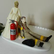 fireman cake topper fireman firefighter wedding cake topper by coloradocarla
