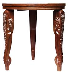 wholesale handmade 3 leg stand round 14 u201d wooden accent table with